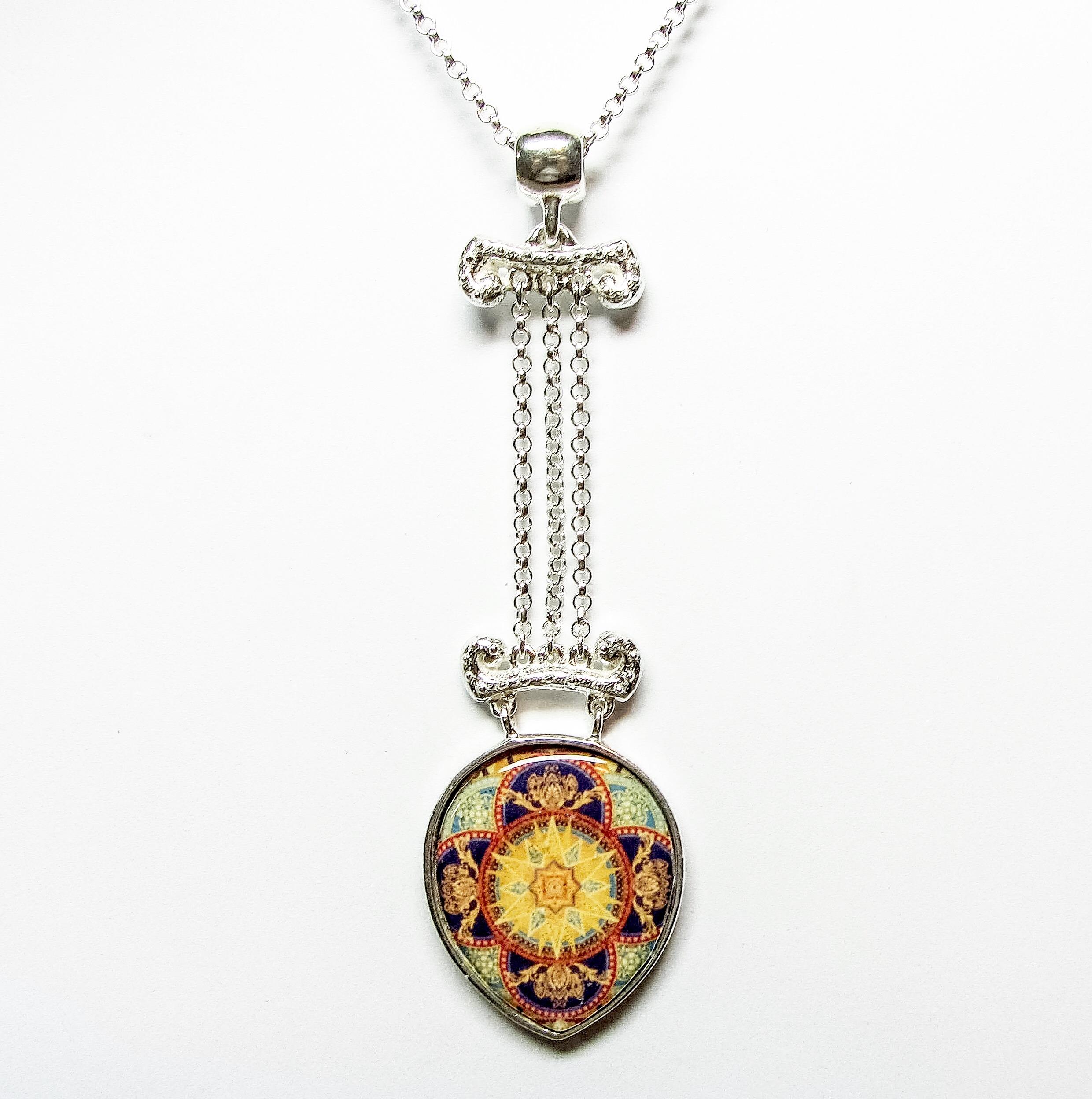 Vintage sunburst pendant link wachler design vintage sunburst pendant aloadofball Images